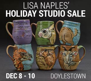 CERAMIC ARTIST, LISA NAPLES' HOLIDAY STUDIO SALE in The Lower Barn